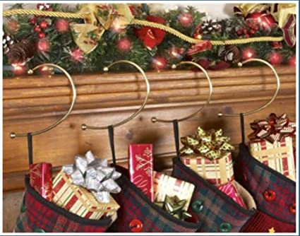 Amazon Com Jumbl Brass Gravity Defying Christmas Stocking Hook