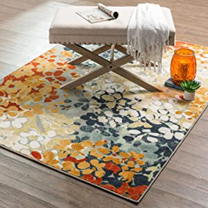 Mohawk Home New Wave Radiance Printed Area Rug, 7'6x10', Multicolor
