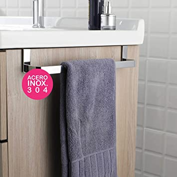 OXEN 321054 Toallero sin taladros para mueble de baño (29 cm) 29cm: Amazon.es: Bricolaje y herramientas