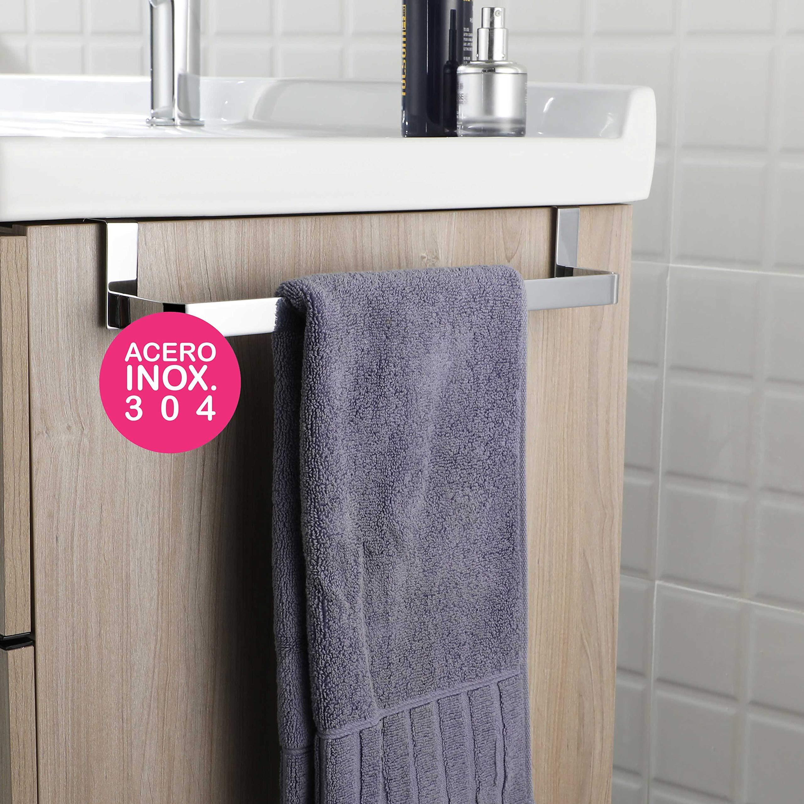 OXEN 321054 Toallero sin taladros para mueble de baño (29 cm) 29cm product image