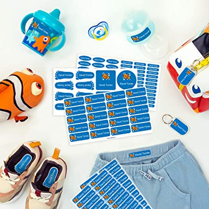 Pack De Etiquetas Para Marcar La Ropa Objetos Zapatos Y Mochilas De Los Niños 142 Etiquetas Personalizadas Perfectas Para El Cole O La Guardería Stikets Amazon Es Oficina Y Papelería