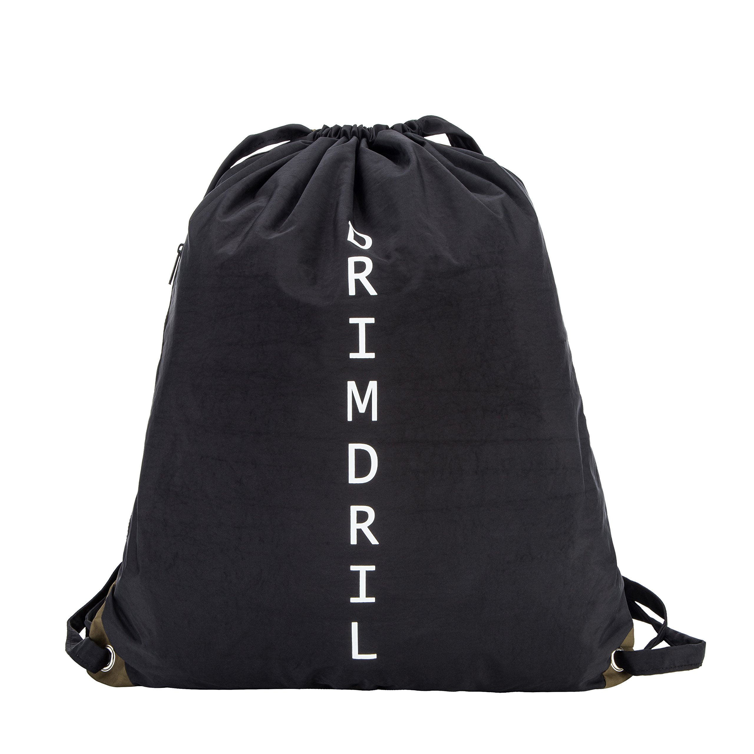 DRIMDRIL Waterproof Drawstring Dry Bag Backpack, Including Welded EVA Clean Clothes Pouch and Easy Access Side Zippered Pocket-Perfect for Swimming, Fishing, Gym, Beach and Other Outdoor Sports