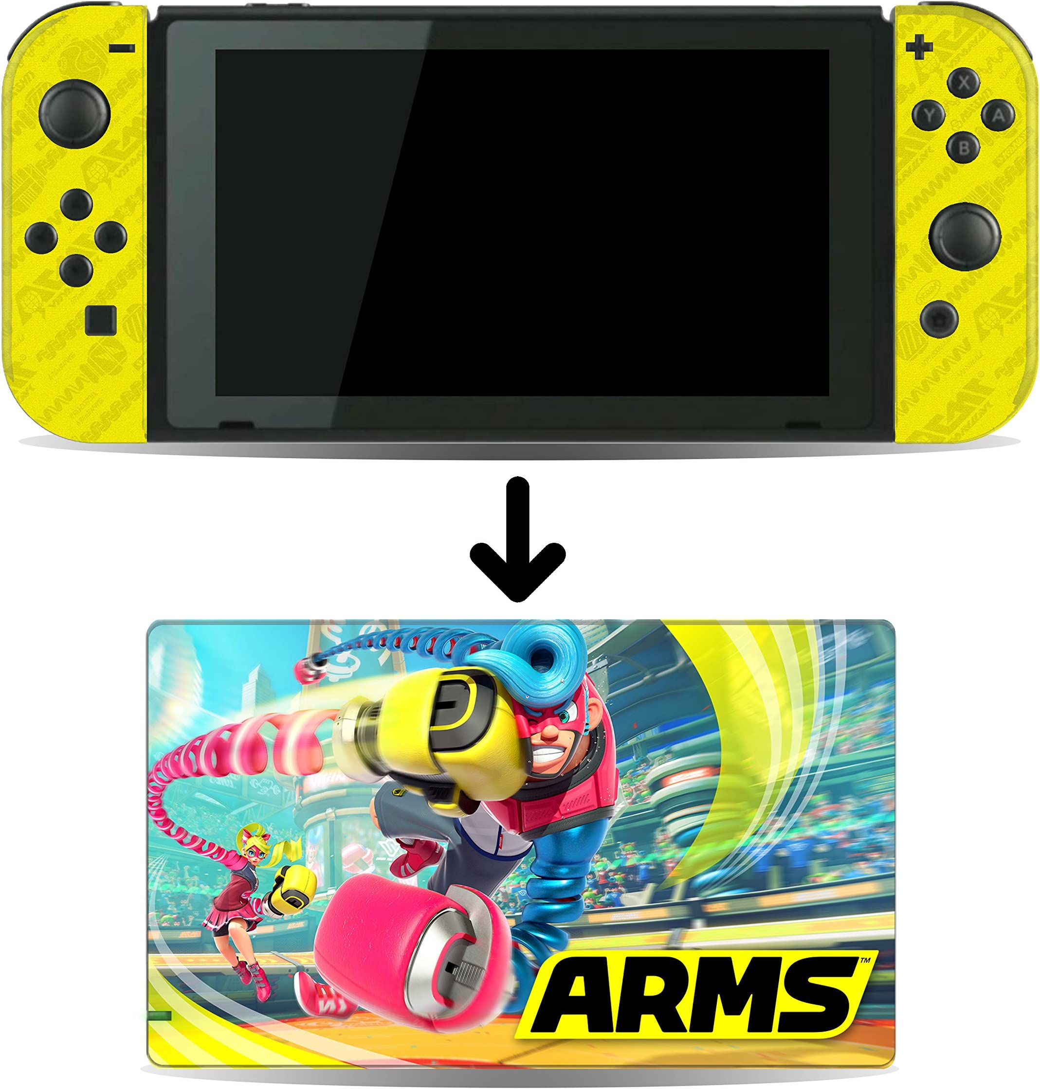 Arms Game Skin For Nintendo Switch Console And Dock Image Unavailable