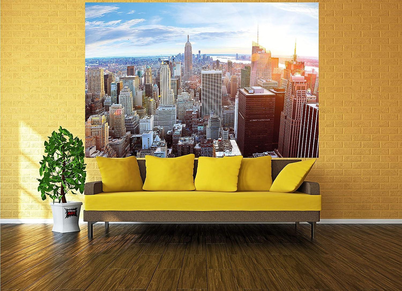 GREAT ART XXL Póster New York Skyline horizont – decoración ocaso Manhattan Penthouse Vista Desde el ático America USA Deco Big Apple NYC | Foto ...