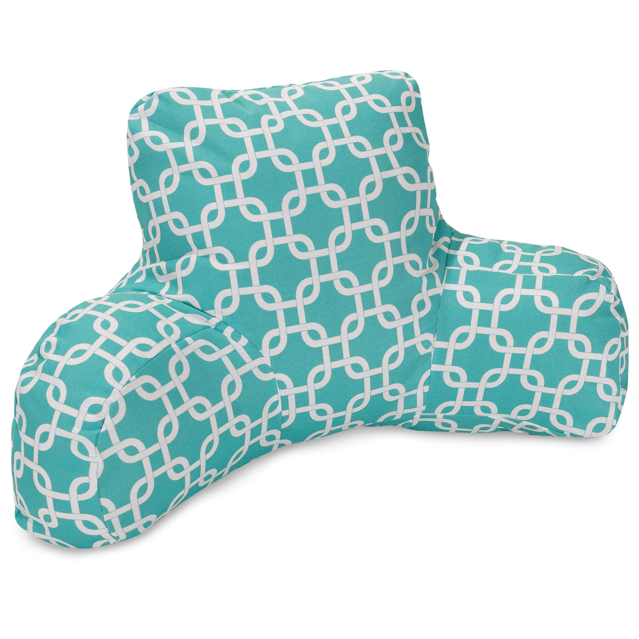 Majestic Home Goods Links Reading Pillow, Teal