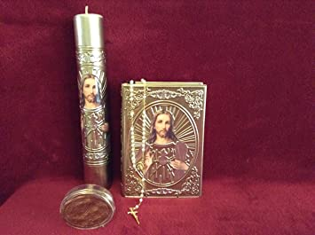 Amazon.com: First Holy Communion Sacred Heart Candle Set ...