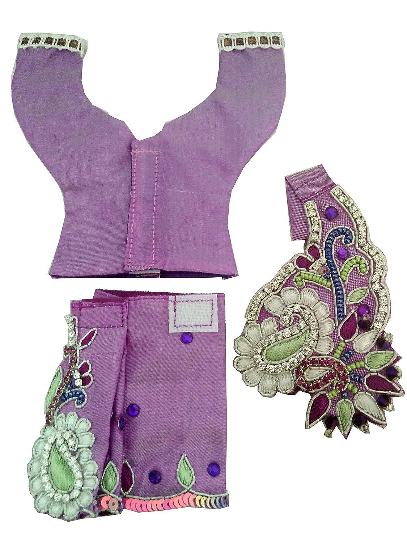 14bbb00bf Buy Stone work purple Gaur Nitai dress with mukut mala 3 inch ...