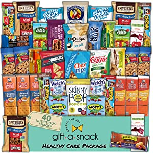 Healthy Snack Box Variety Pack (40 Count) Graduation 2021 Crave Gift Basket - Fathers Day Food Arrangement, College Student Care Package, Nutritious Chips - Birthday Treat for Women, Men, Adult, Kid
