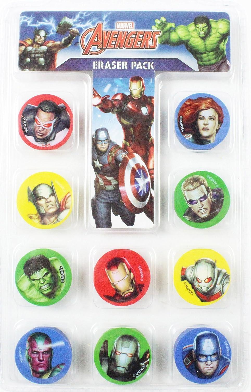 Goma de borrar de los Vengadores 10 unidades Set superhéroes de ...