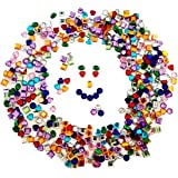 """Playscene Craft Jewels with Adhesive Back (1/2"""" Inch - 500 Pack)"""