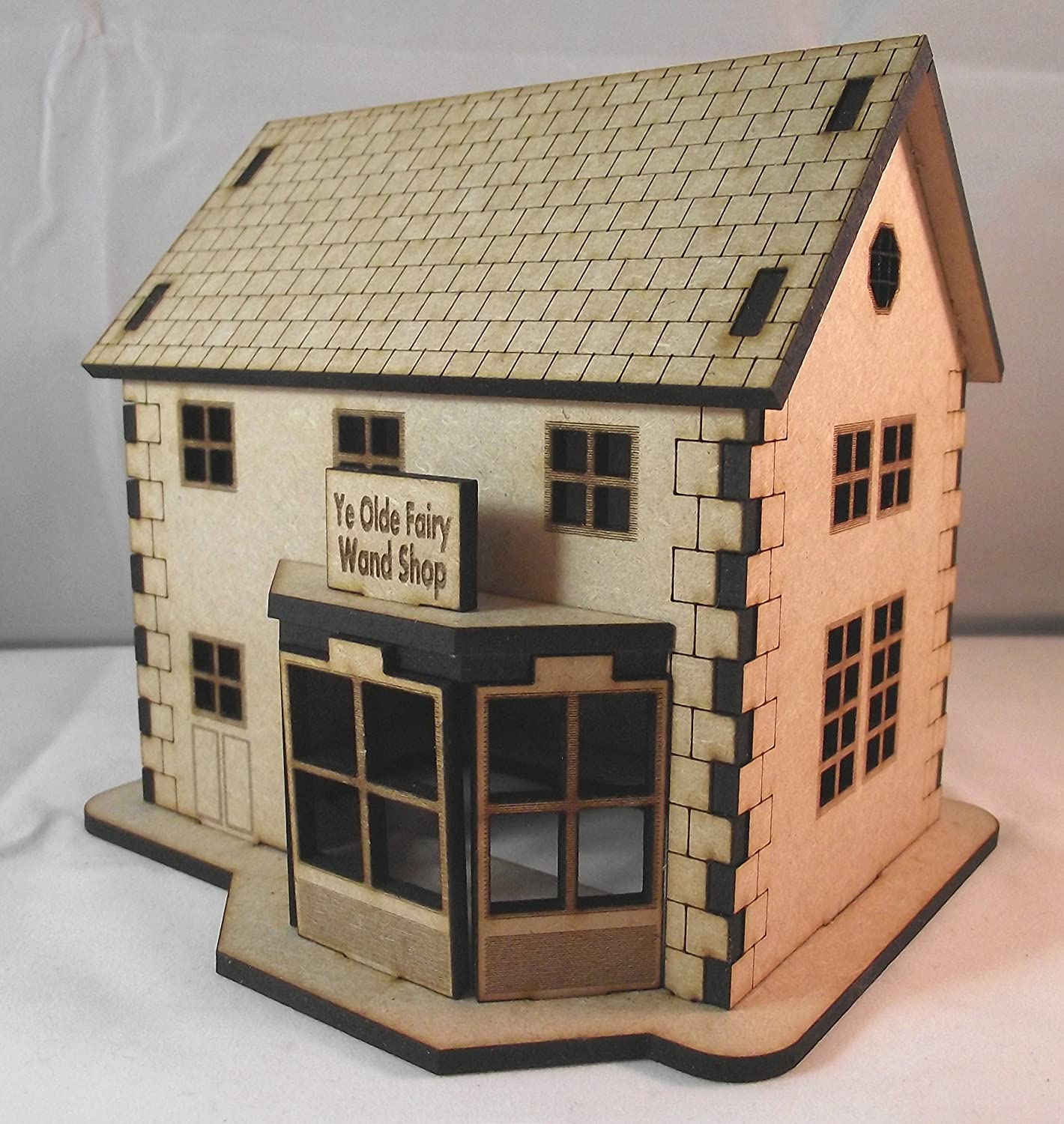 Build Your Own Fairy Village in Miniature - Ye Olde Fairy Wand Shop - Wooden Fairy House/Dolls House Kit Secret Fairy Door