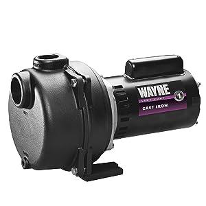 WAYNE WLS150 1.5 HP High Volume Cast Iron Lawn Sprinkling Pump