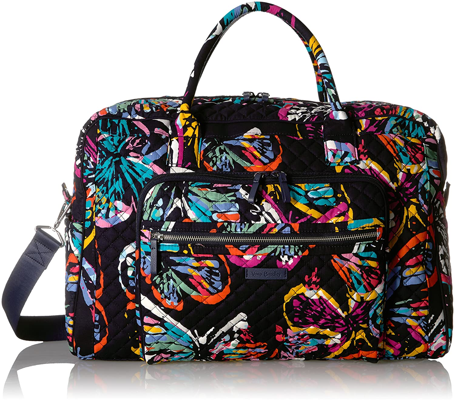 Vera Bradley Iconic Weekender Travel Bag, Signature Cotton Butterfly Flutter 22235-I81