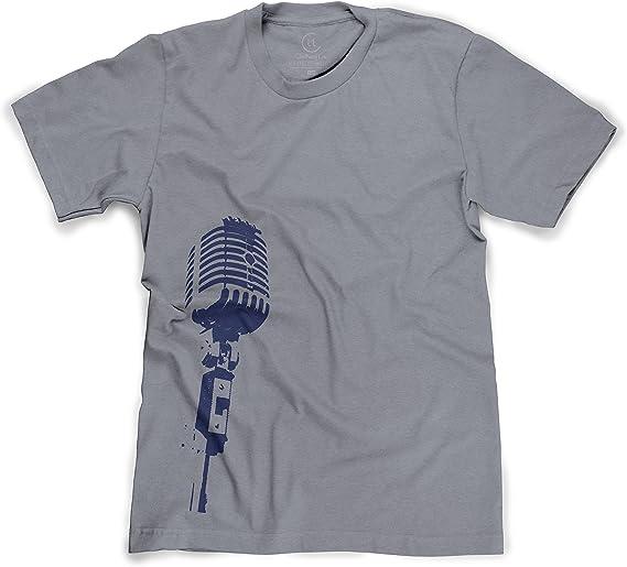 Old School Vintage Retro Music Microphone Men/'s T-Shirt//Tank Top d825m