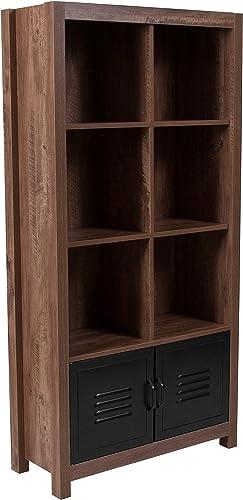 Flash Furniture New Lancaster Collection 59.5″H 6 Cube Storage Organizer Bookcase
