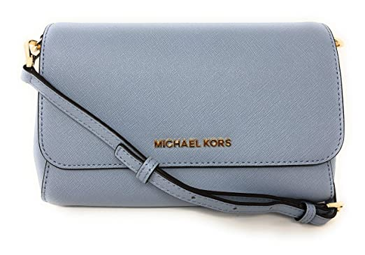 96bcd76a43ee Image Unavailable. Image not available for. Color: Michael Kors Jet Set  Item Medium Saffiano Convertible Pouchette Crossbody Bag ...