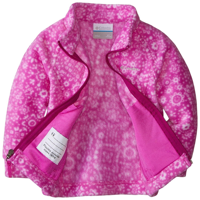 Columbia Chica II Benton Springs II Chica Polar Impreso, niña, Color Rosa - Foxglove Paisley Print, tamaño X-Large 6927a9