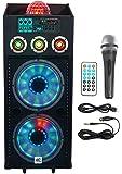 "NYC Acoustics N212A Dual 12"" 700w Powered DJ Party Speaker Bluetooth, Lights+Mic"