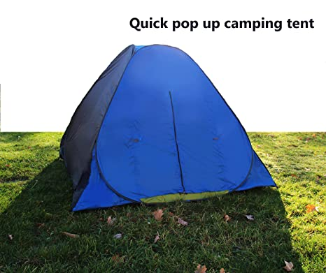 Wealers Easy Pop Up 3 Three Person Family Camping Beach Kids Tent With