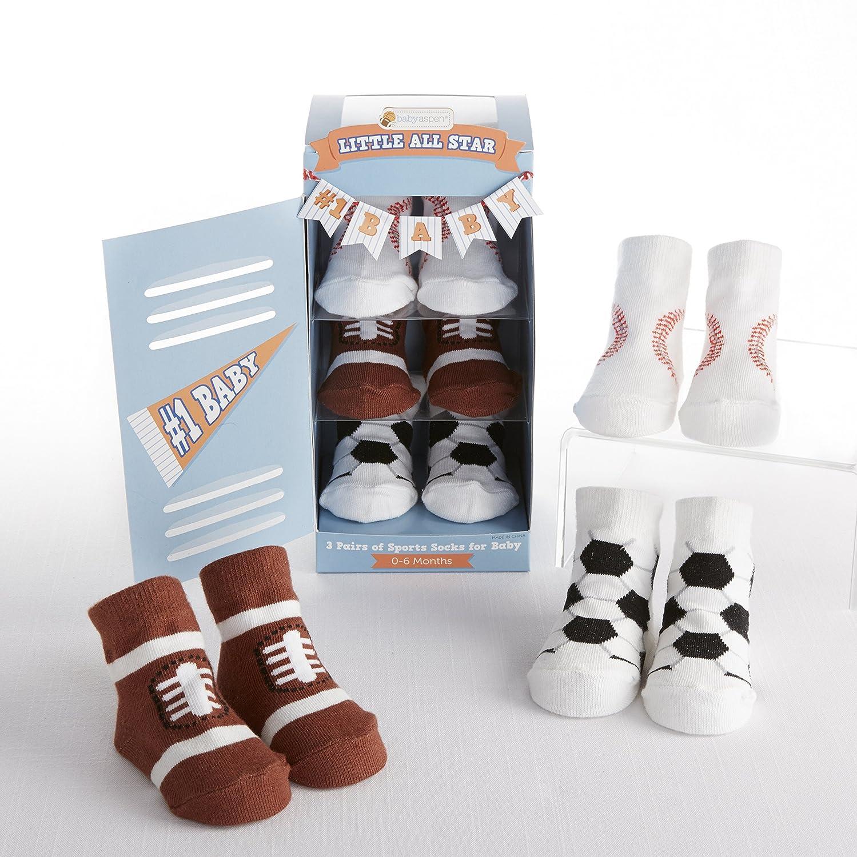 Amazon.com: Baby Aspen, Little All Star 3 Pair of Socks Gift Set, 0-6 Months: Baby