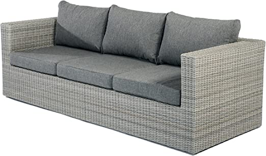 Muebles de Jardín Jardín sofá Lounge sofá illias Polirratán 3 ...