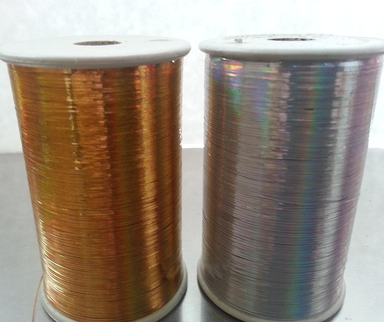 1/Silber 3000/Meter je Spule Gr/ö/ße 1//69 2/x Spulen von Lurex Premium F/äden 1/Gold