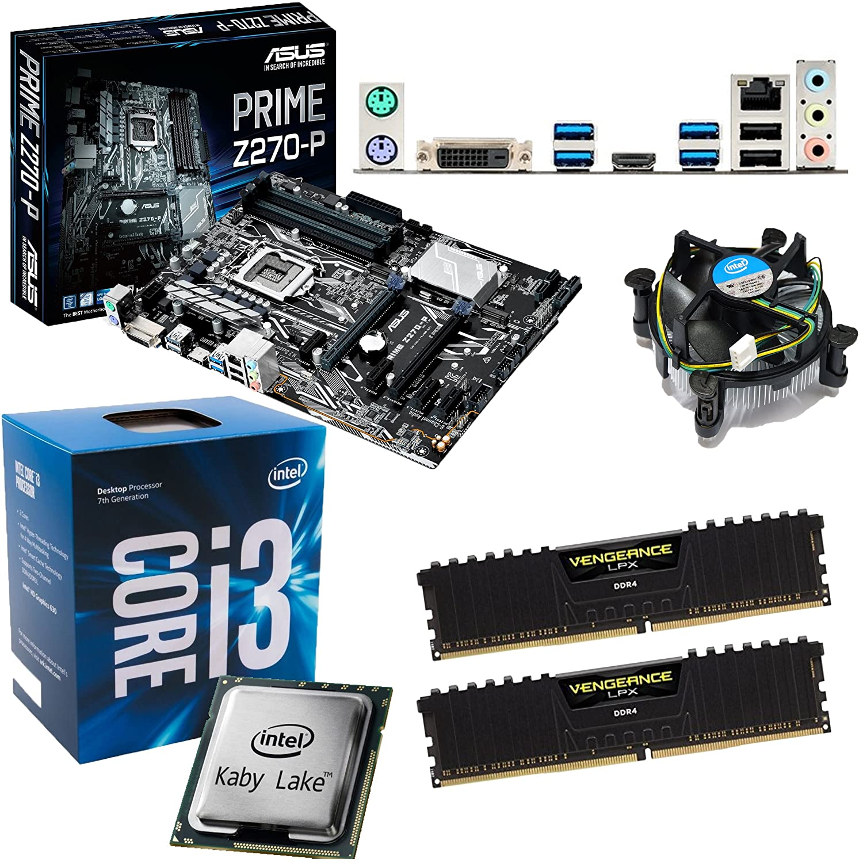 INTEL Kaby Lake Core i3 7100 3 9Ghz CPU, ASUS Prime Z270-P