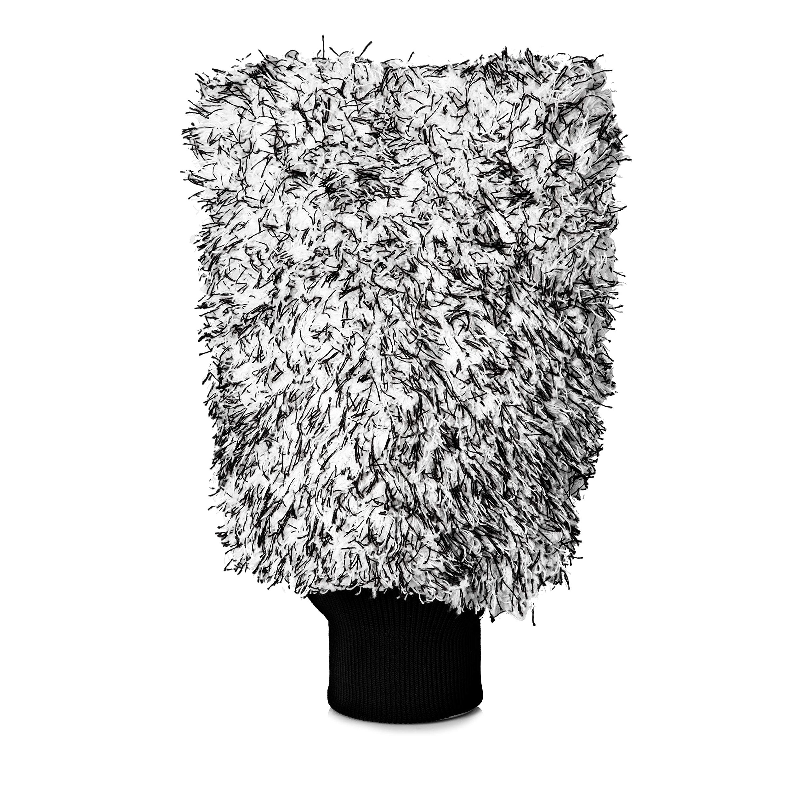 Adam's Microfiber Car Wash Mitt, Car Sponge Wrapped In Soft, Plush Fiber Cloth Material, Safe Washing With Any Car Soap, Bucket, Foam Gun, Foam Cannon, Other Cleaning Supplies