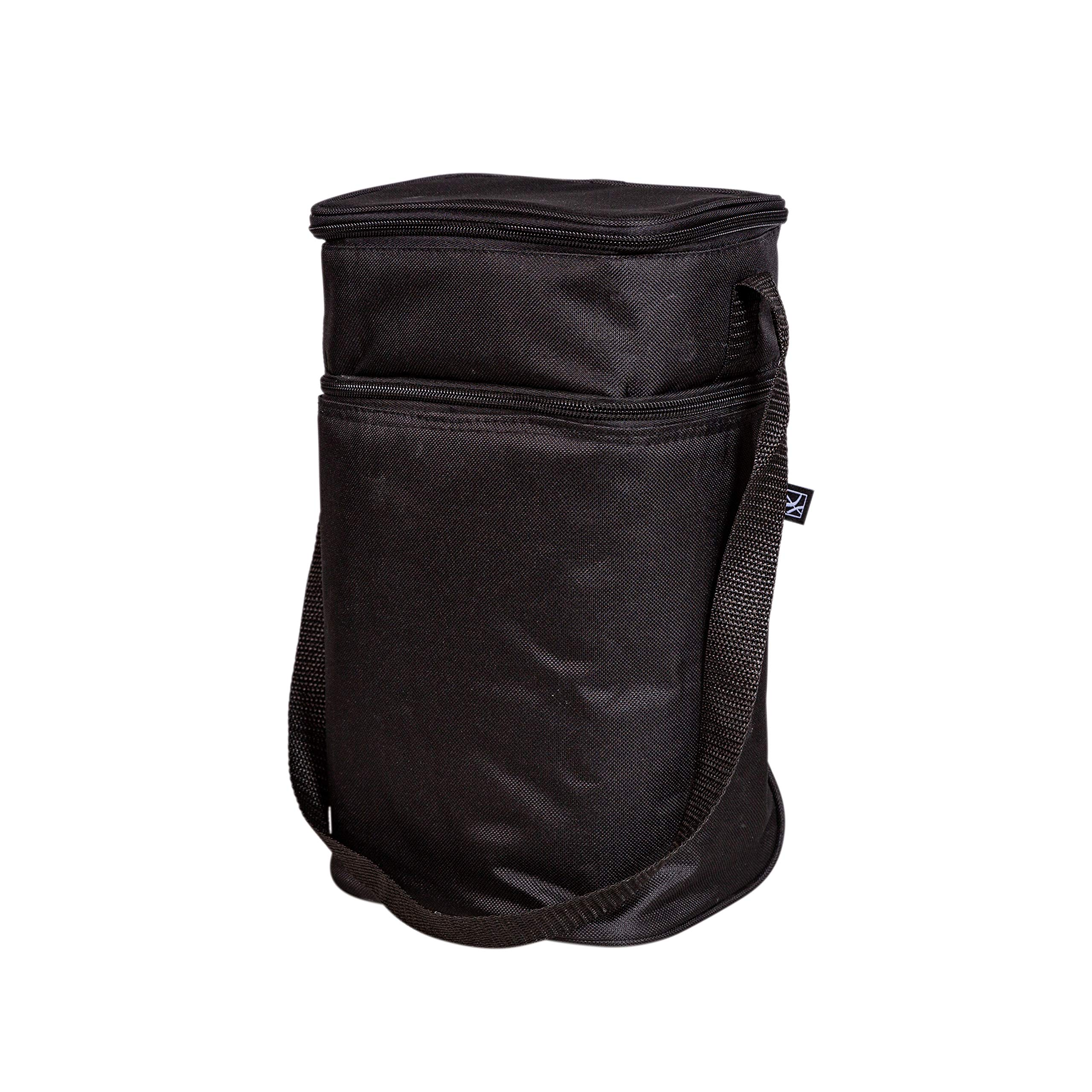 J.L. Childress 6 Bottle Cooler, Insulated Breastmilk Cooler & Lunch Bag for Baby Food & Bottles, Leak-Proof & Heat-Sealed, Ice Pack Included, Black by J.L. Childress