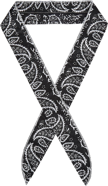 The Elixir Sports Cooling Scarf/Headband/Neck Wrap, Cotton Polar Ice Scarf Bandana, Black
