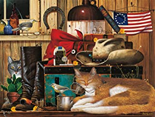 product image for Buffalo Games - The Cats of Charles Wyoscki - Travelling Cowboy - 750 Piece Jigsaw Puzzle