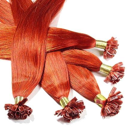 Hair2Heart 25 x 0,5g Extensiones de Queratina - 30cm - Liso, Color 130