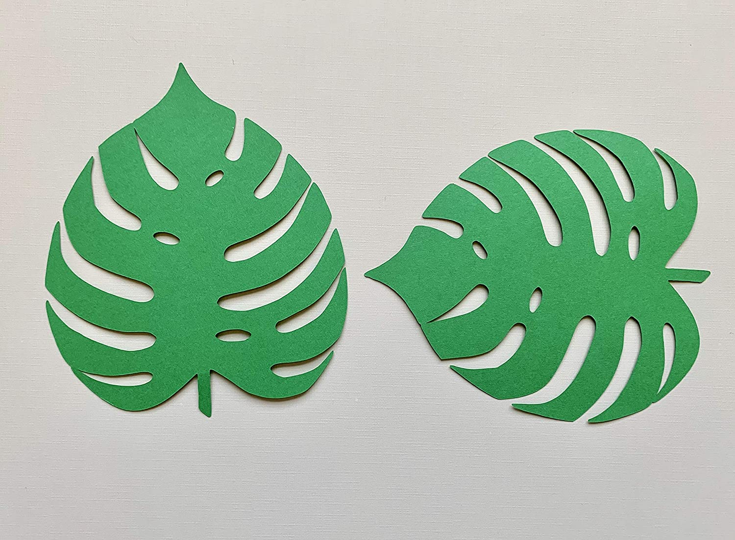 Cut out Leaves Large Tropical Palm Leaves Cardstock Leaf Green Leaves,Jungle Leaves Pre Cut Palm Leaf Paper Leaves