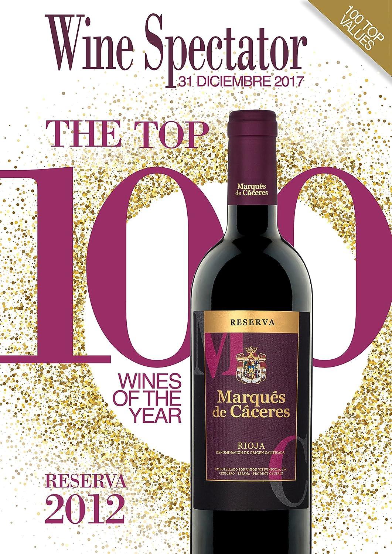 Marques De Caceres - Vino Tinto Reserva Botella - 750 ml: Amazon.es: Alimentación y bebidas