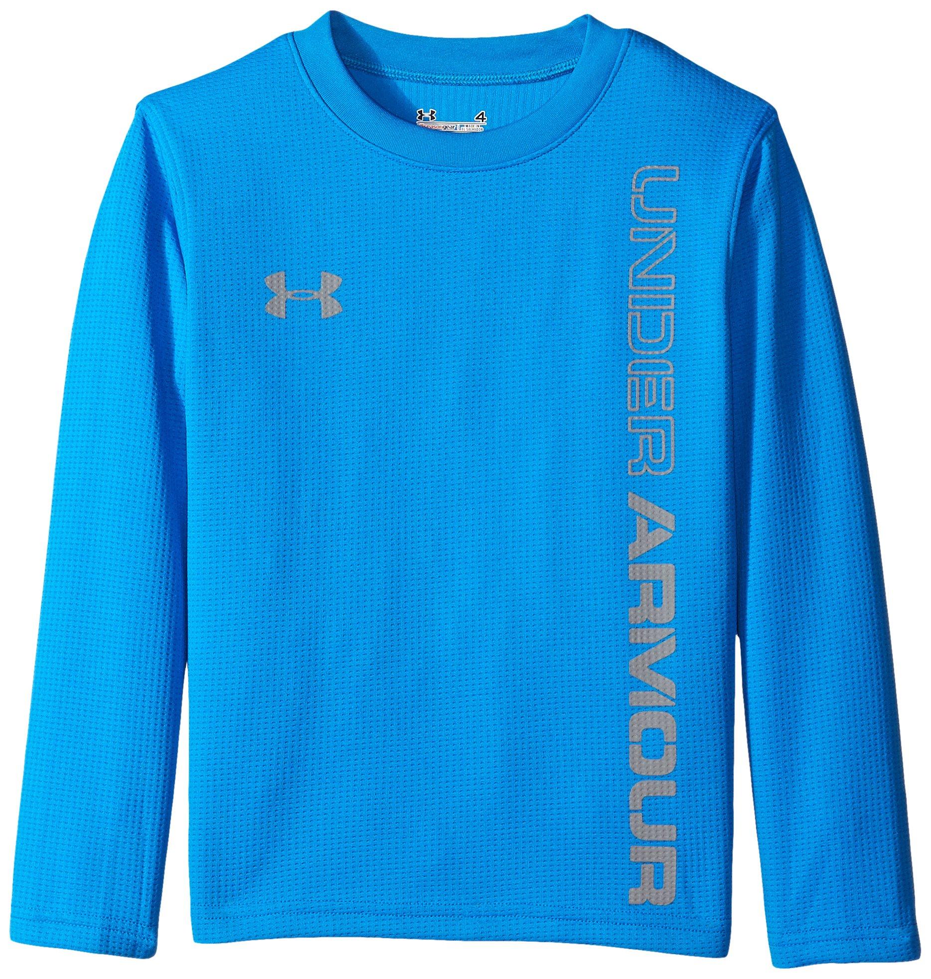 Under Armour Little Boys' Long Sleeve Tee Shirt, Blue Jet, 6