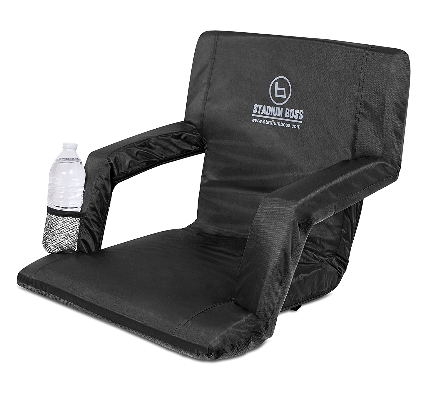 Fantastic Stadium Boss Seat Reclining Bleacher Chair Folding With Back And Arms Padded Sport Chair Armrest Recline Perfect For Bleachers Lawns And Backyards Ibusinesslaw Wood Chair Design Ideas Ibusinesslaworg