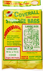 Warp Brothers CB-40 Banana Bags Storage Bags, 40-Inches by 72-Inches, 4-Count, Yellow, Yellow, 1