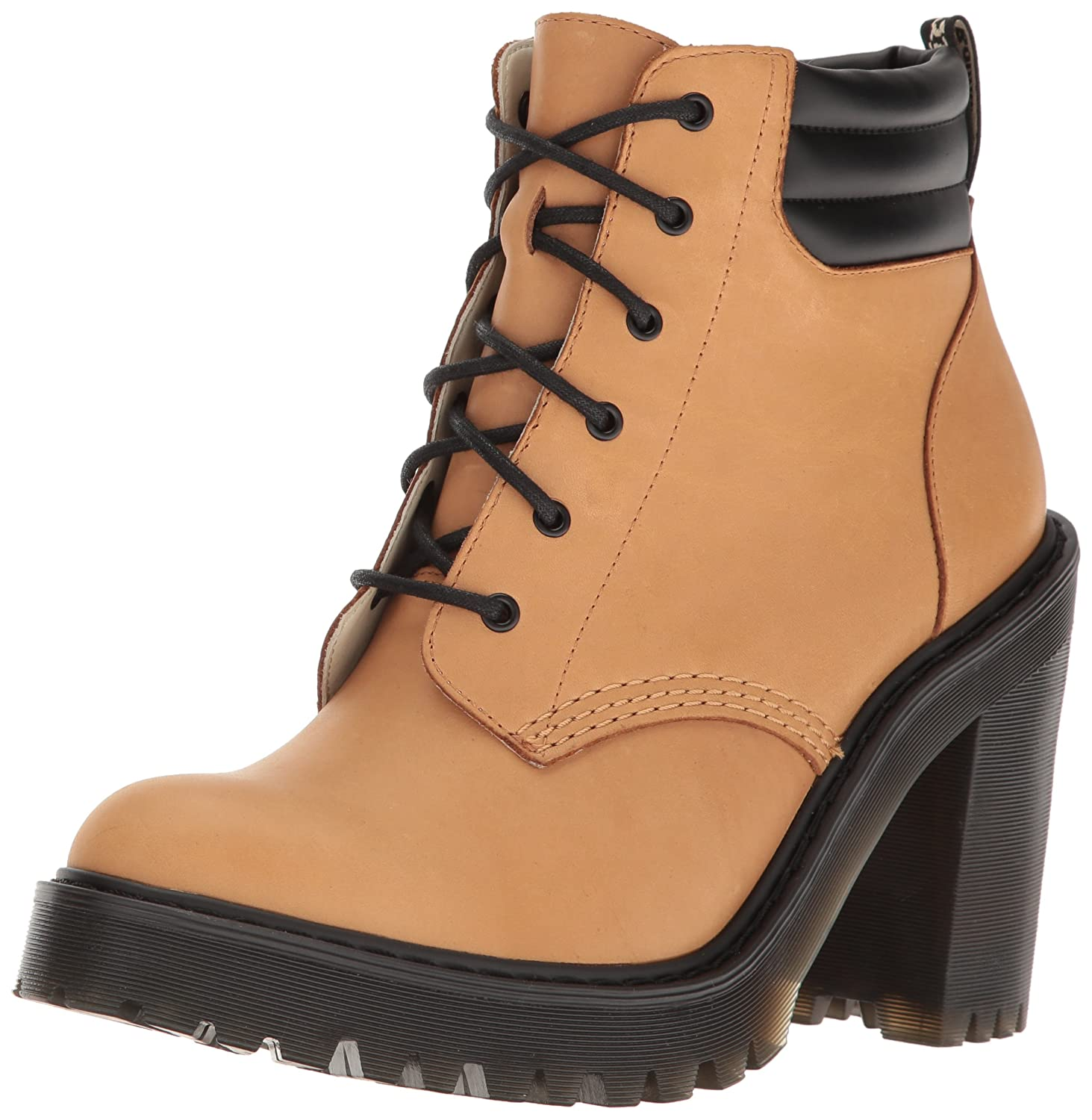 Dr. Martens Women's Persephone Ankle Bootie B01IDYQITQ 5 UK/7 M US|Tan