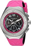 Technomarine Men's 'Manta' Quartz Stainless Steel and Silicone Casual Watch, Color:Pink (Model: TM-215076)
