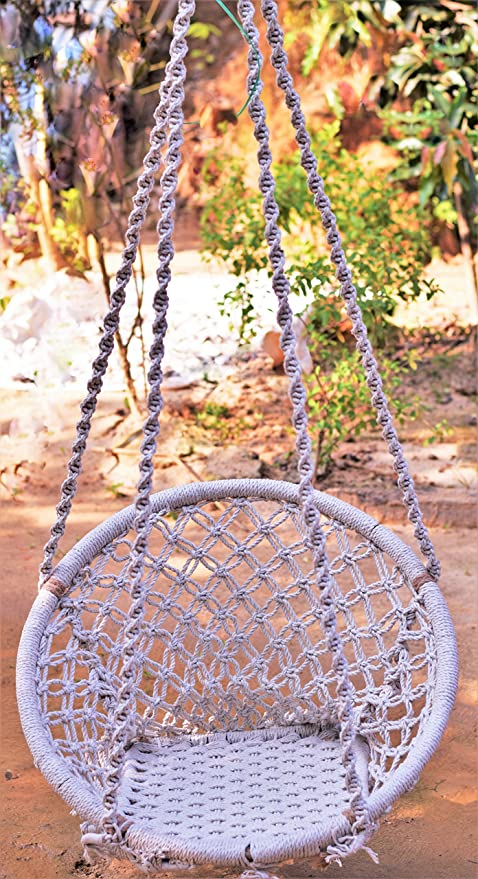 Dc Eco Swing Chair Jhula For Adults Nylon Hanging Rope Swing Made
