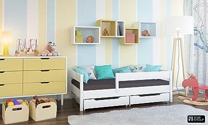 Per bambini singolo letto con cassetti e materasso 4 colori ...