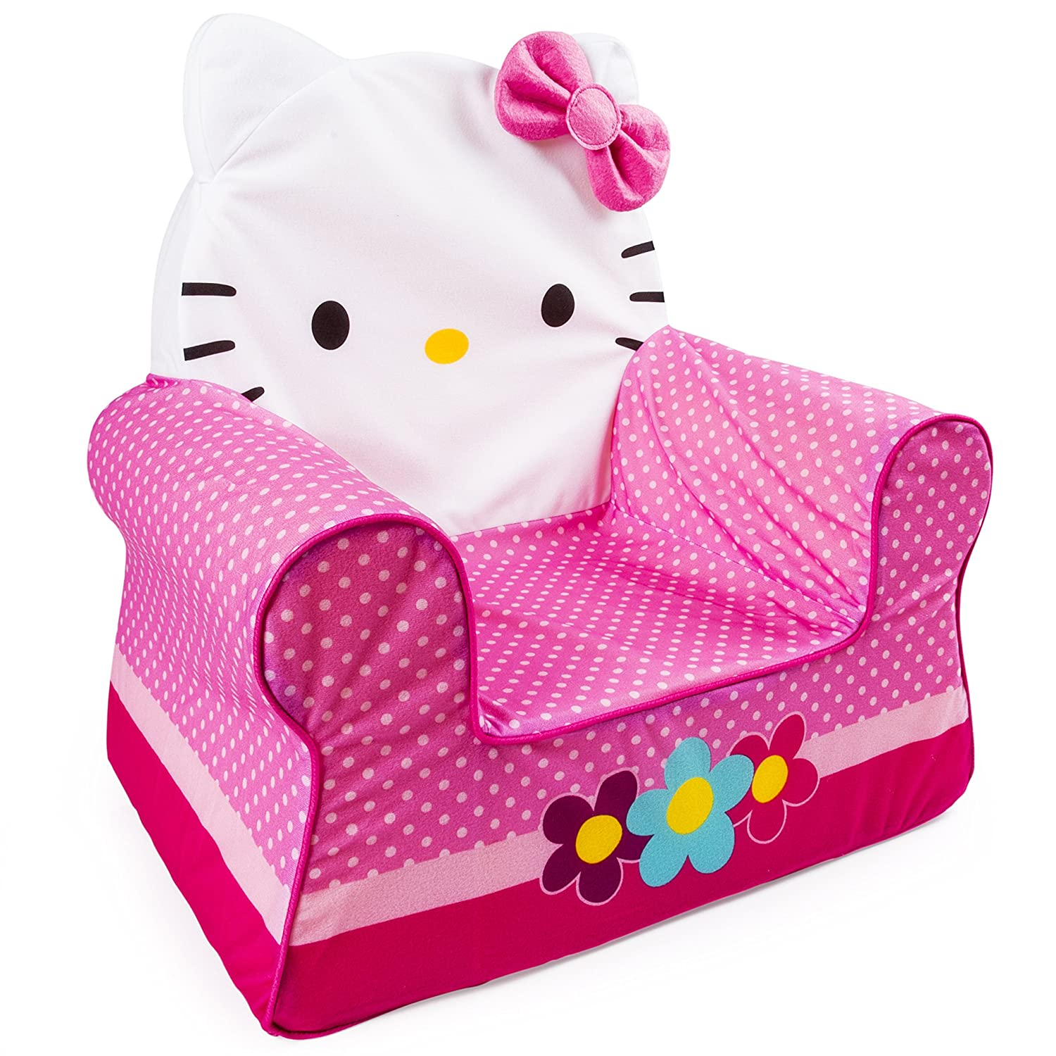 Hello kitty computer chair - Amazon Com Marshmallow Furniture Children S Foam Comfy Chair Hello Kitty By Spin Master Toys Games