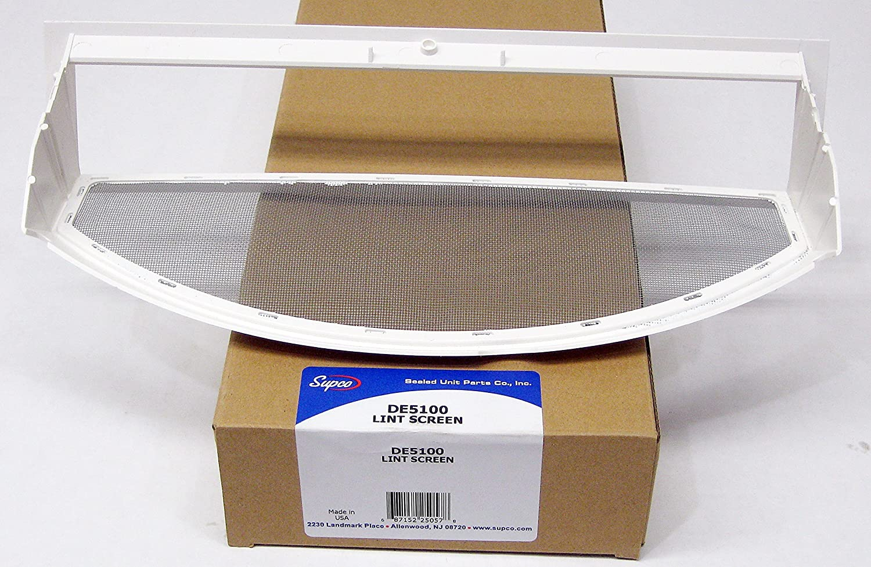 Supco DE5100 Dryer Lint Screen Replaces WE18X25100, WE18M28, WE18M30, PS11767017, WE18M0019, WE18M0021, WE18M19
