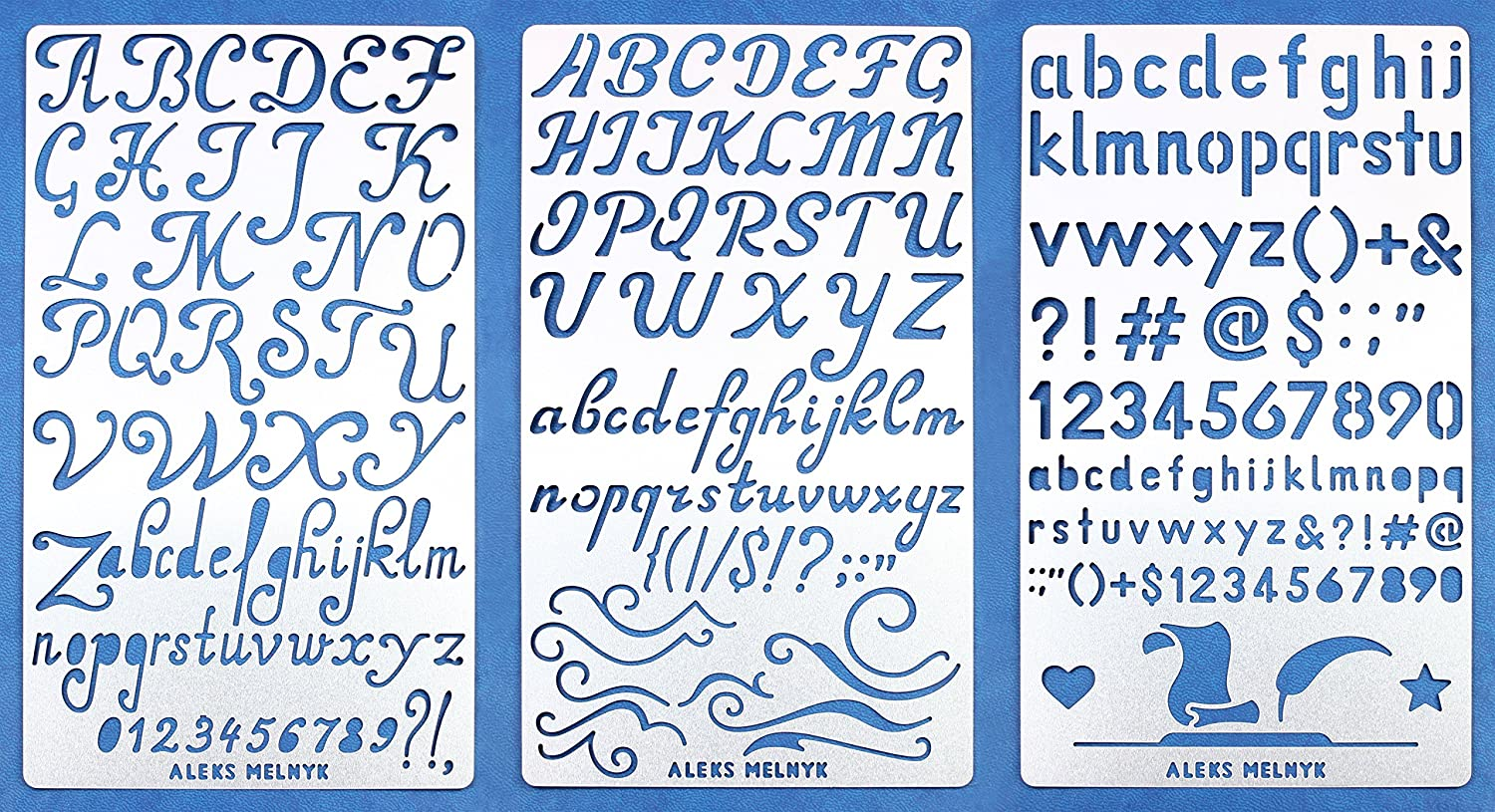 Aleks Melnyk 34 Bullet Journal Stencil Metal/Alphabet Letter Number, ABC/Stainless Steel Planner Set Stencils Journal/Notebook/Diary/Bujo/Scrapbooking/Crafting/DIY Drawing Template Stencil 4336890694