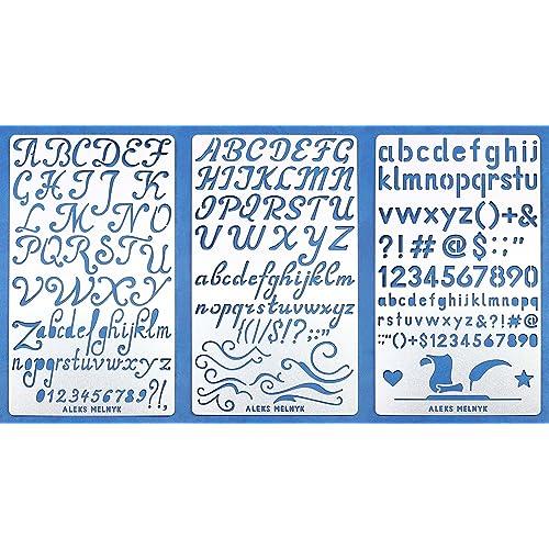 aleks melnyk 34 stencil metalalphabet letter number abcstainless steel planner set