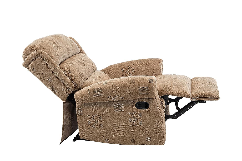 Birlea Manhattan Recliner Chair - Fabric Single Wheat Amazon.co.uk Kitchen u0026 Home  sc 1 st  Amazon UK & Birlea Manhattan Recliner Chair - Fabric Single Wheat: Amazon.co ... islam-shia.org