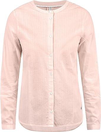 BlendShe Alexa Blusa Camisa Mangas Largas para Mujer con Cuello Redondo con Estampado De 100% algodón: Amazon.es: Ropa y accesorios
