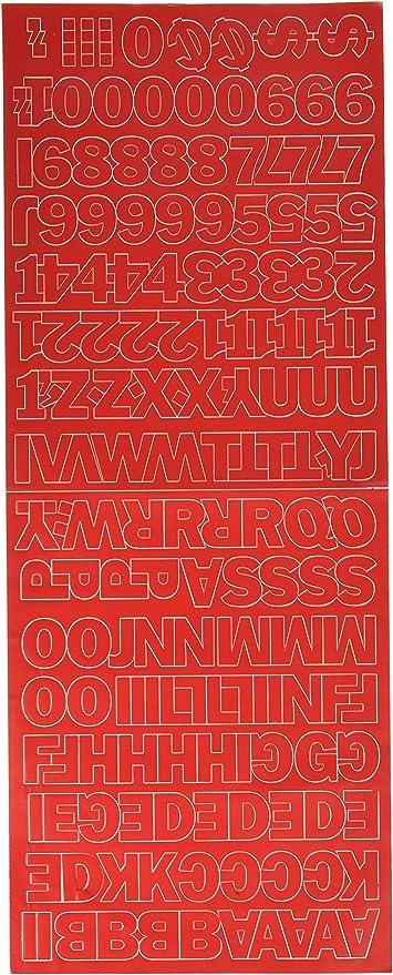 Amazon.com: Duro letras y números adhesivos en vinilo ...