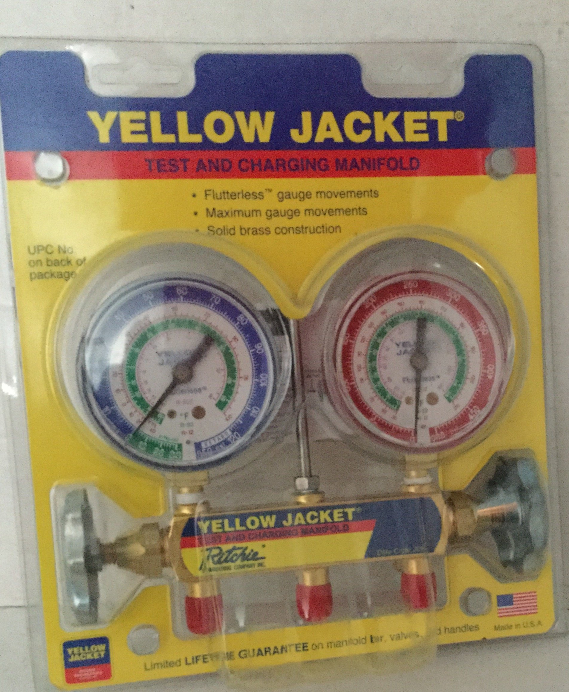 Yellow Jacket 41212 Manifold Only with 2-1/2'' Gauge, psi, R-12/22/502