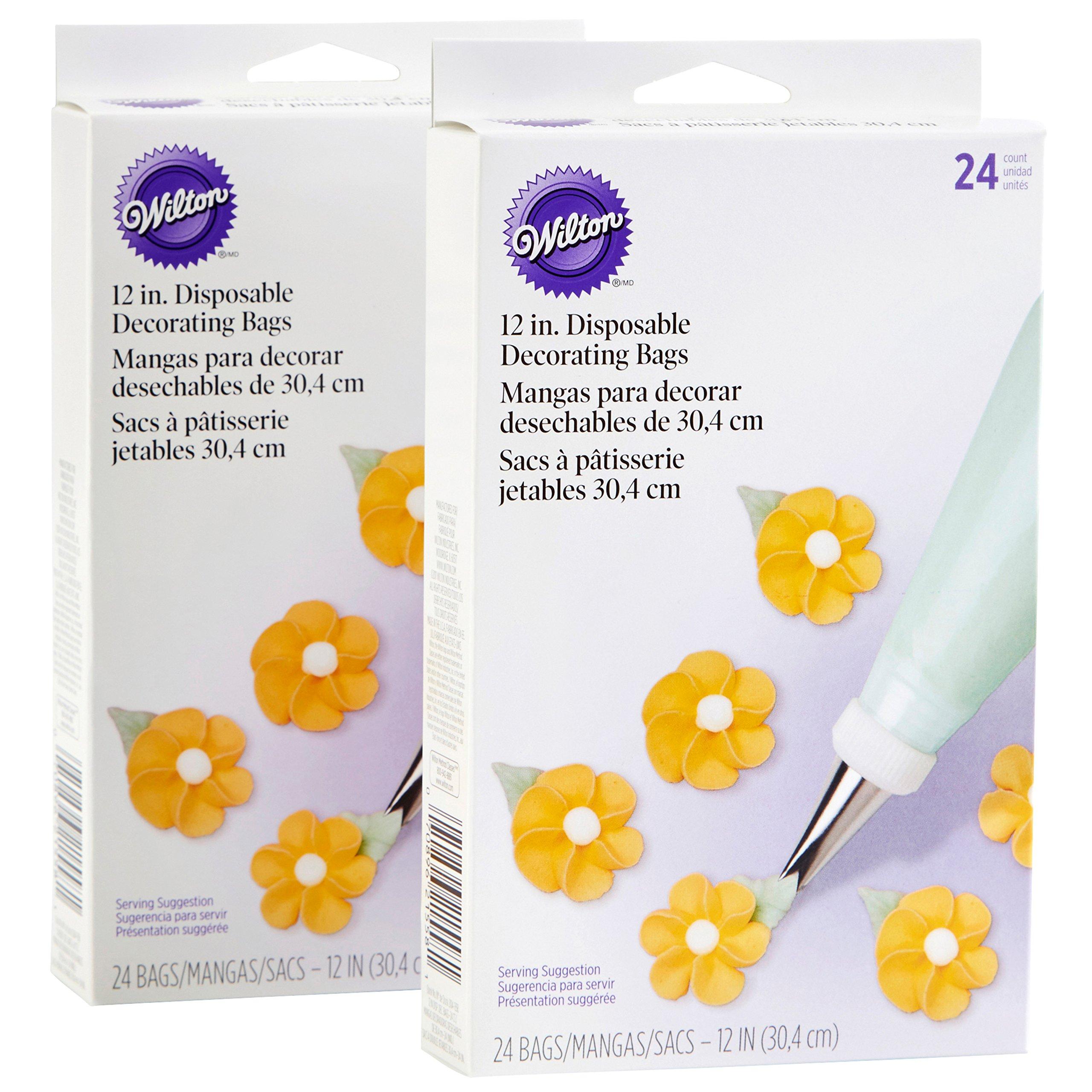 Wilton 12-Inch Disposable Decorating Bag Set, 4-Pack